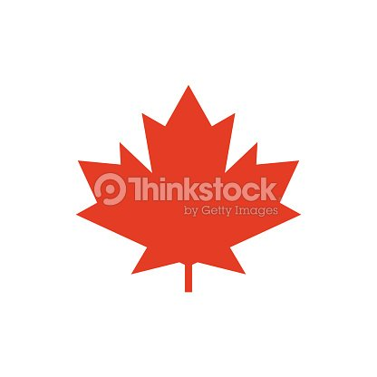 Maple Leaf Vector Icon Symbol Of Canada Vector Art Thinkstock