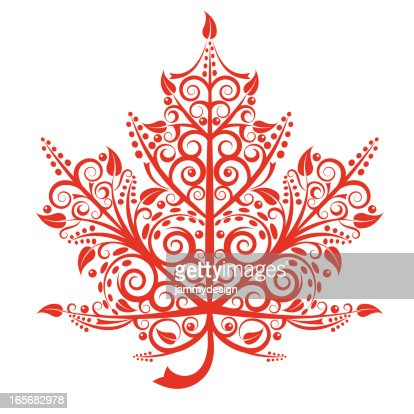 Maple leaf vector art getty images