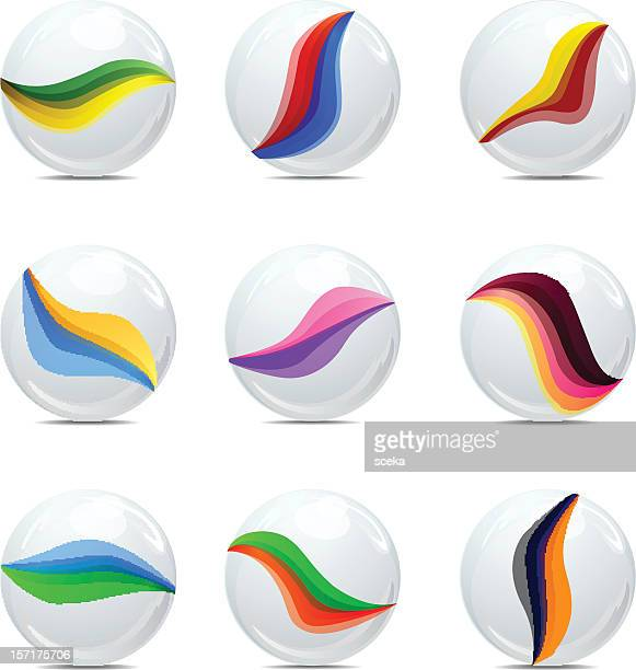 Cartoon Colored Marbles : Marbles stock illustrations and cartoons getty images