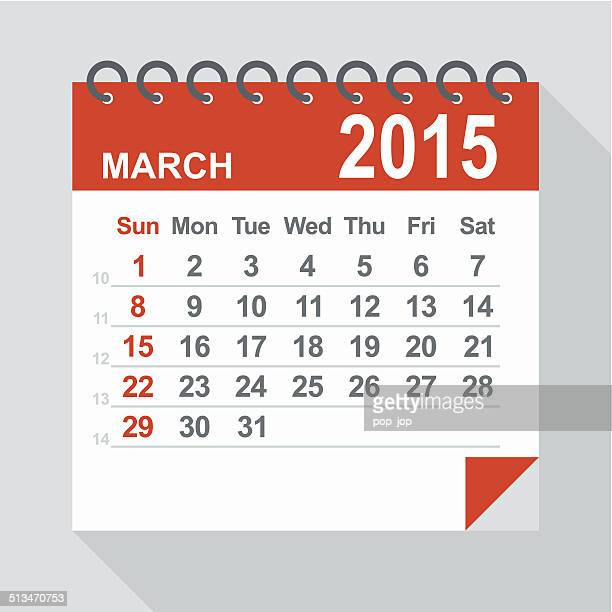 March 2015 calendar - Illustration