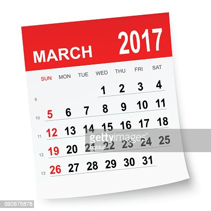 March 2017 Calendar Vector Art | Getty Images
