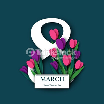 March 8 greeting card. : stock vector