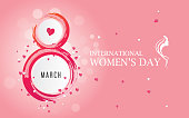 8 March International Women's Day Background Template Illustration-Happy Women's Day Template Background Vector Illustrations