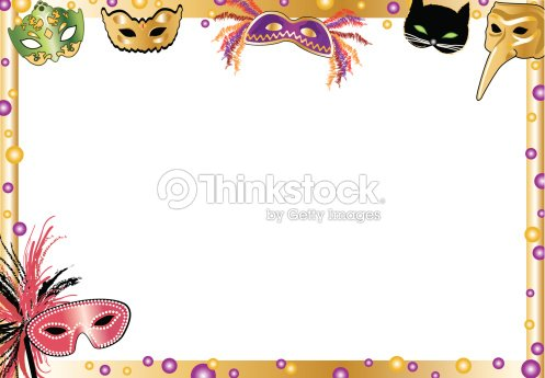 Mardi Gras Masks Frame C2 Vector Art   Thinkstock