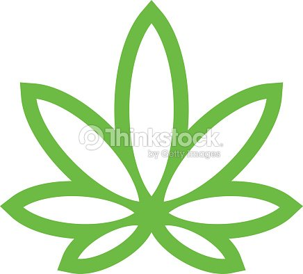Marijuana Pot Weed Leaf Symbol Vector Art Thinkstock