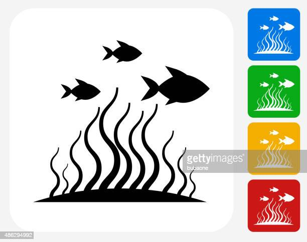 Marine Animals Icon Flat Graphic Design