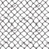 hand-drawn marine net seamless pattern