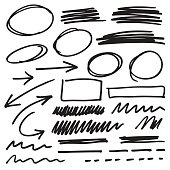 vector marker elements collection