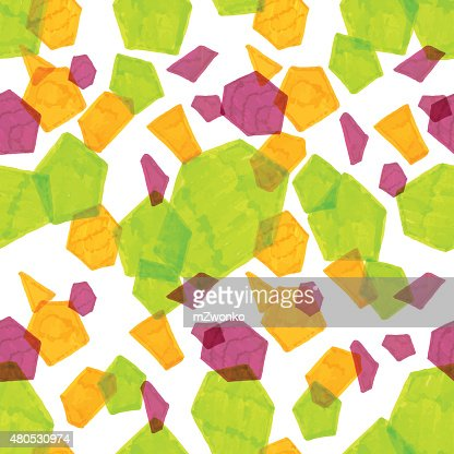 Marker polygonal Muster : Vektorgrafik