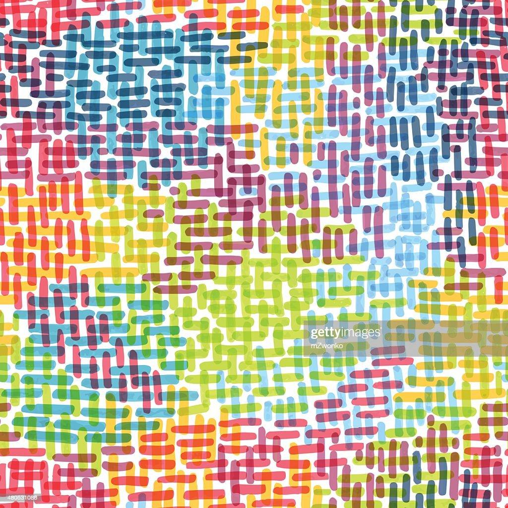 Marker Schlaganfall Muster : Vektorgrafik