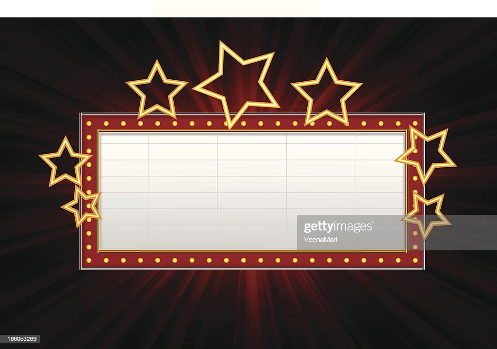 Movie Marquee Vector Clipart - Clipart Kid