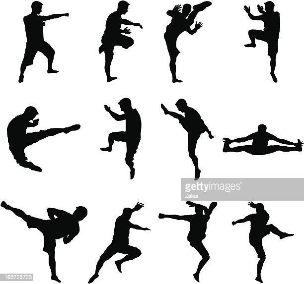 Martial Arts and Sport Black Silhouettes