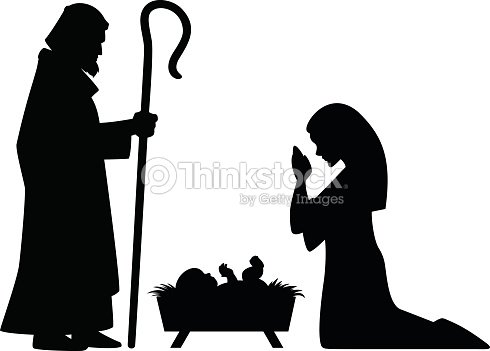 Mary Joseph And Jesus Stock Vector Thinkstock