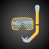 Snorkeling equipment. Vector illustration.