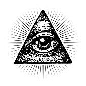 Masonic Eye Vector Illustration