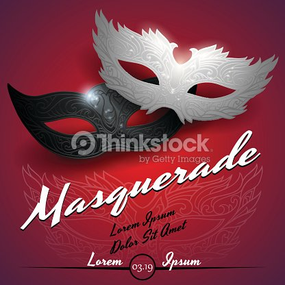 Masquerade Ball Party Invitation Poster Vector Art