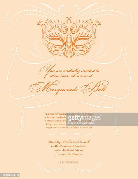 Masquerade Mask Design Party Invitation