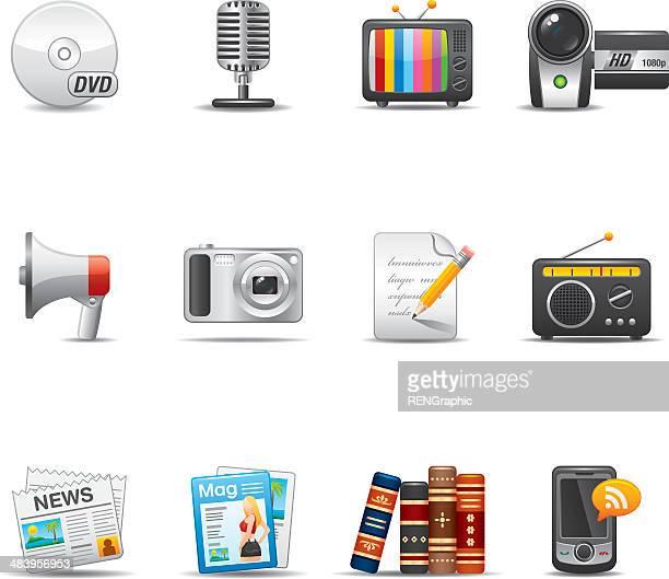 Mass Media Icon Set | Elegant Series