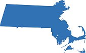 Highly detailed map of Massachusetts for your design and products.