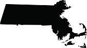 vector illustration of Massachusetts map
