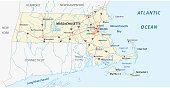 massachusetts road vector map.