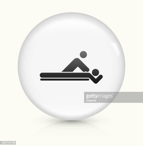 Massage icon on white round vector button