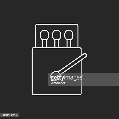 match line icon : Vector Art