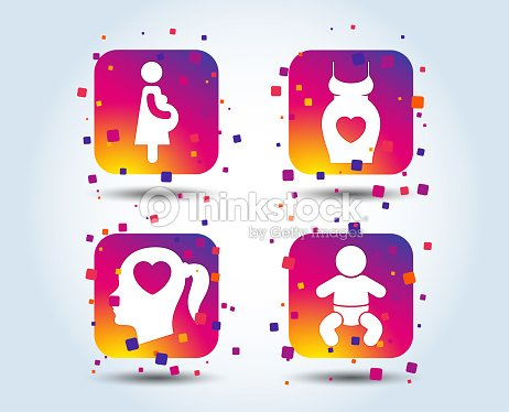 6f136f237 Iconos De La Maternidad Bebé Lactante El Embarazo Dress arte ...
