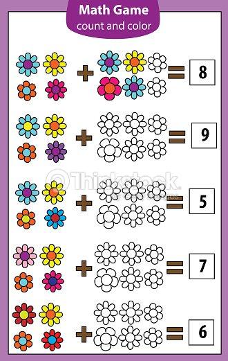 Juego Educativo De Matemáticas Para Niños Recuento De Las Ecuaciones ...