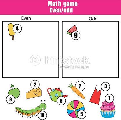 mathe lernspiel f r kinder gerade und ungerade zahlen lernen mathematikkinderaktivit t. Black Bedroom Furniture Sets. Home Design Ideas