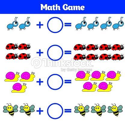Juego Educativo De Matemáticas Para Niños Aprendiendo Hoja De ...