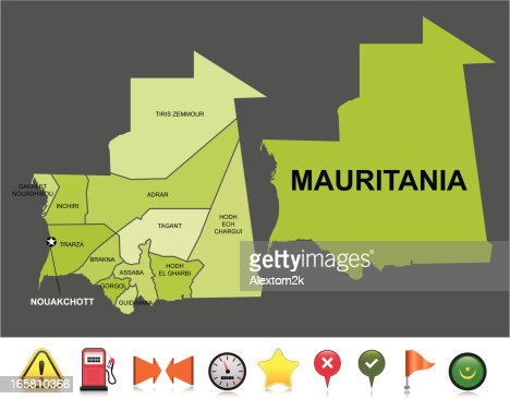 mauritanie carte de navigation clipart vectoriel getty images. Black Bedroom Furniture Sets. Home Design Ideas