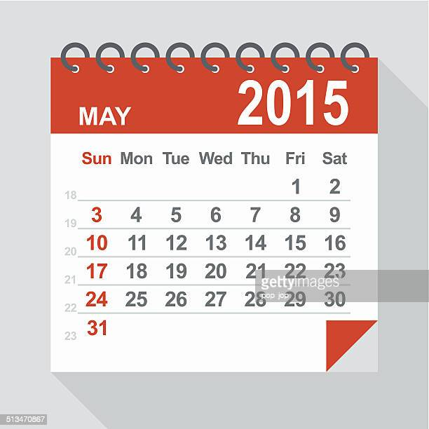 May 2015 calendar - Illustration