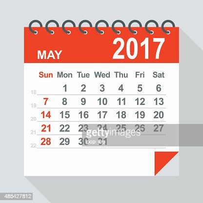 May 2017 Calendar Illustration Vector Art | Getty Images