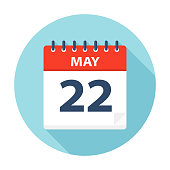 May 22 - Calendar Icon - Vector Illustration
