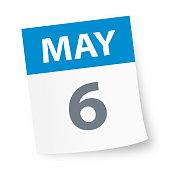 May 6 - Calendar Icon - Vector Illustration