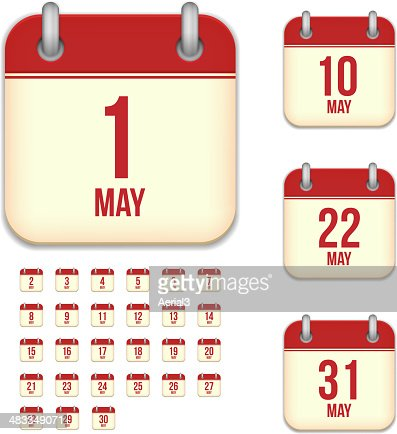 May days. Vector calendar icons : stock vector