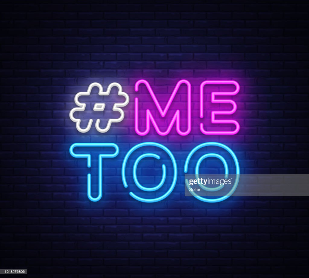 me too neon text vector hashtag me too neon sign design template rh thinkstockphotos ae design of night club design of night