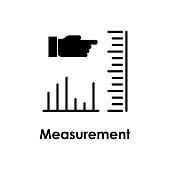 measurement, hand, chart icon. One of business collection icons for websites, web design, mobile app on white background