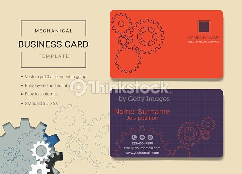 Mechanical business card or name card template simple style also mechanical business card or name card template simple style also modern and elegant with head fbccfo Choice Image
