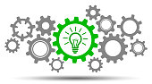 Mechanism generation business idea - stock vector