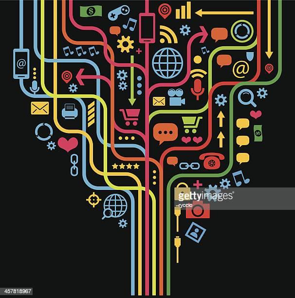 Media internet icon graphics