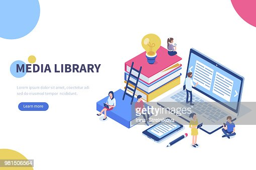 media library : stock vector
