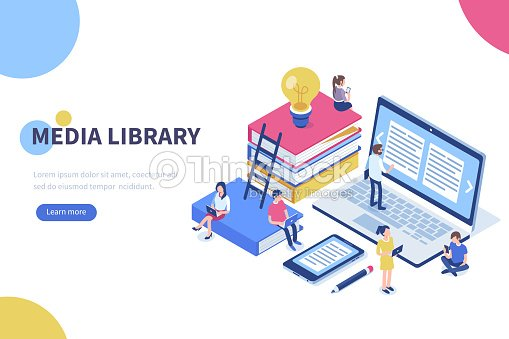 media library : stock vector