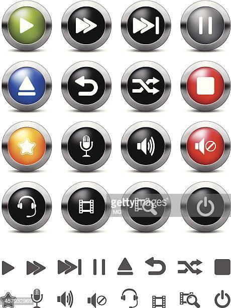 Media Player Button Set