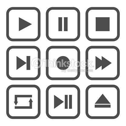 fdb03c8ce4 Media Player Control Buttons Play Pause Stop Record Forward Rewind ...