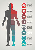 Medical and healthcare icons and data infographic