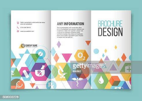 Medical And Healthcare Brochure Vector Art – Healthcare Brochure
