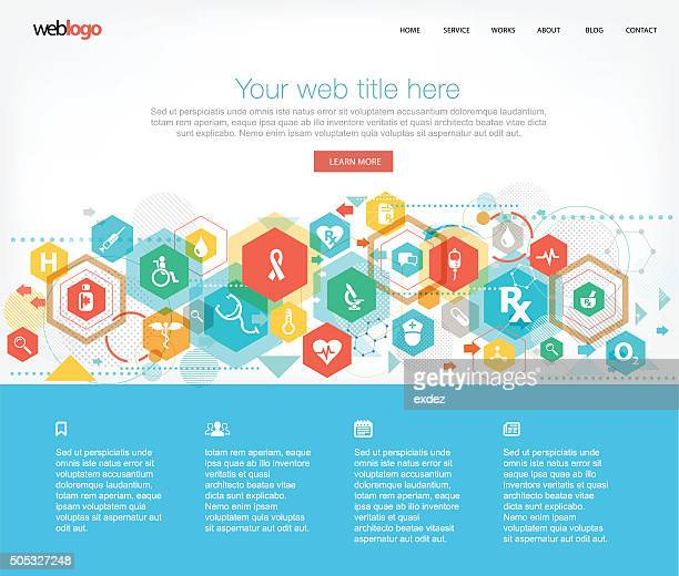 Medical and healthcare web template