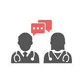 Medical Conversation Icon - Glyph